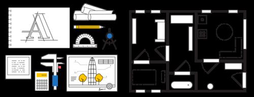 Bureau d'études plan d'architecture